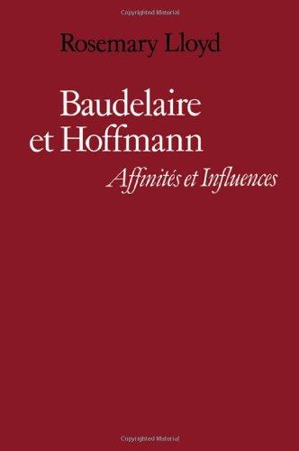 9780521224598: Baudelaire et Hoffmann: Affinités et Influences