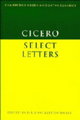9780521224925: Cicero: Select Letters