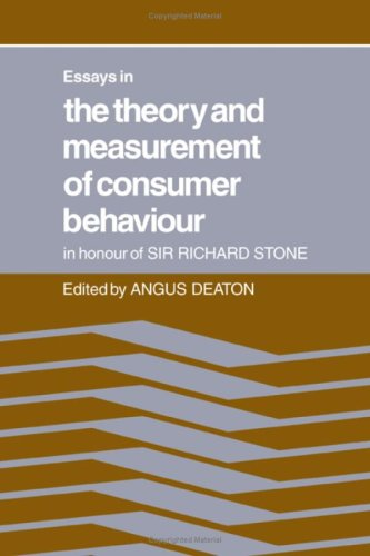 9780521225656: Essays in the Theory and Measurement of Consumer Behaviour: In Honour of Sir Richard Stone