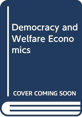 9780521225687: Democracy and Welfare Economics