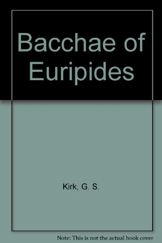 9780521226752: Bacchae of Euripides