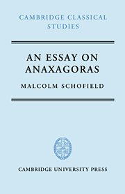 An essay on Anaxagoras.