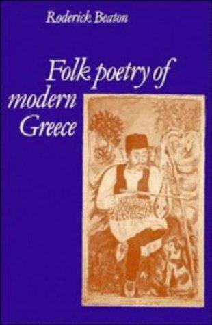 Folk Poetry of Modern Greece: Roderick Beaton