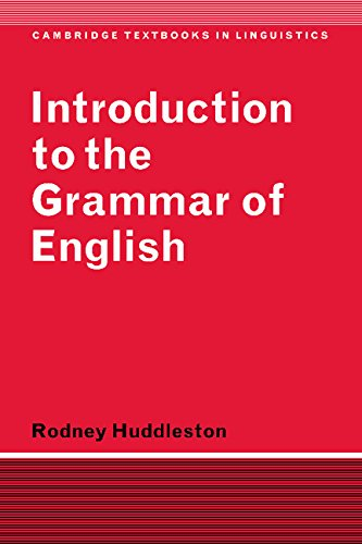 9780521228930: Introduction to the Grammar of English (Cambridge Textbooks in Linguistics)