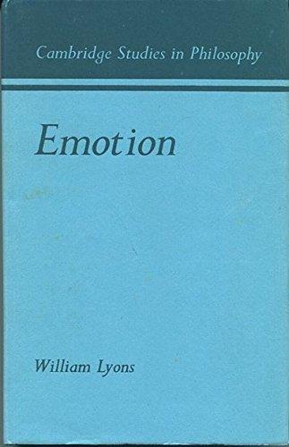 9780521229043: Emotion (Cambridge Studies in Philosophy)
