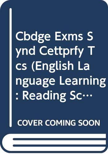 Cbdge Exms Synd Cettprfy Tcs (English Language Learning: Reading Scheme) (9780521230070) by University Of Cambridge Local Examinations Syndicate