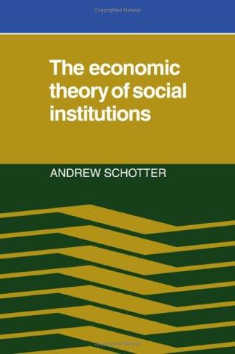 social economy institutions essay