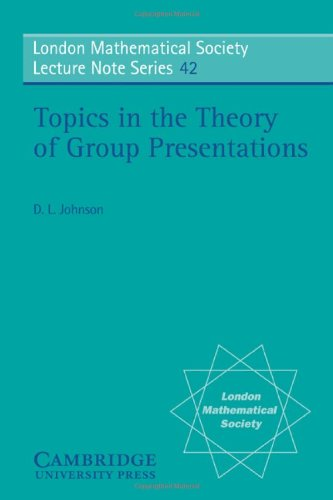 9780521231084: Topics in the Theory of Group Presentations (London Mathematical Society Lecture Note Series)