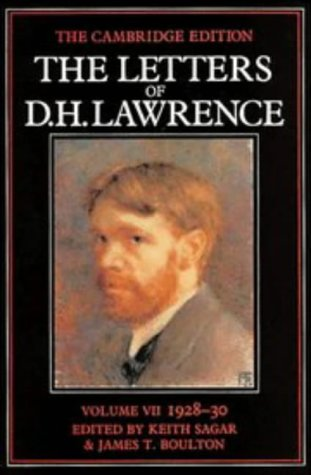 The Letters of D. H. Lawrence VOL.: Lawrence, D. H.