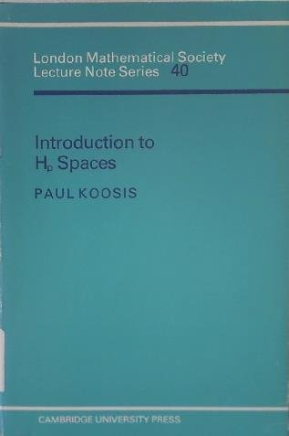 9780521231596: Introduction to Hp Spaces (London Mathematical Society Lecture Note Series)