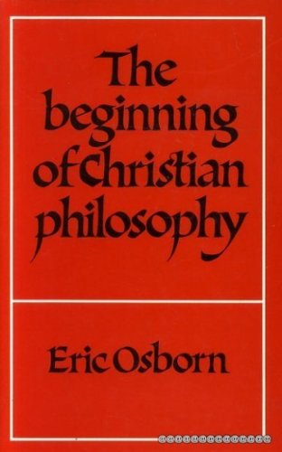 9780521231794: The Beginning of Christian Philosophy