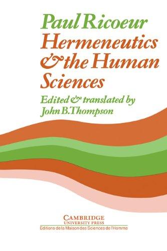 9780521234979: Hermeneutics and the Human Sciences: Essays on Language, Action and Interpretation