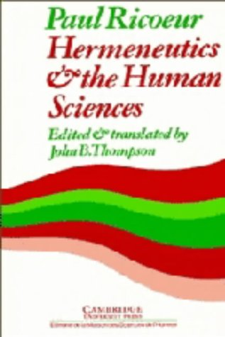 9780521234979: Hermeneutics and the Human Sciences: Essays on Language, Action and Interpretation (Cambridge Philosophy Classics)