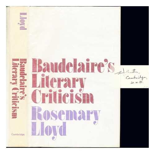 9780521235525: Baudelaire's Literary Criticism