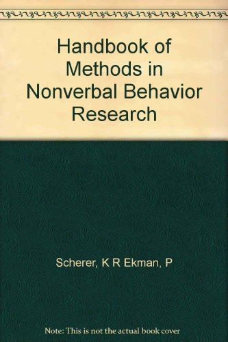 9780521236140: Handbook of Methods in Nonverbal Behavior Research (Studies in Emotion and Social Interaction)