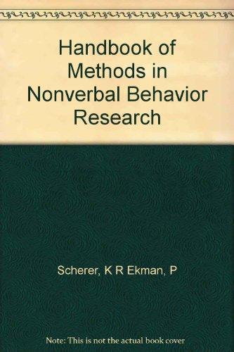 Handbook of Methods in Nonverbal Behavior Research.