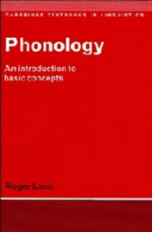 9780521237284: Phonology: An Introduction to Basic Concepts (Cambridge Textbooks in Linguistics)
