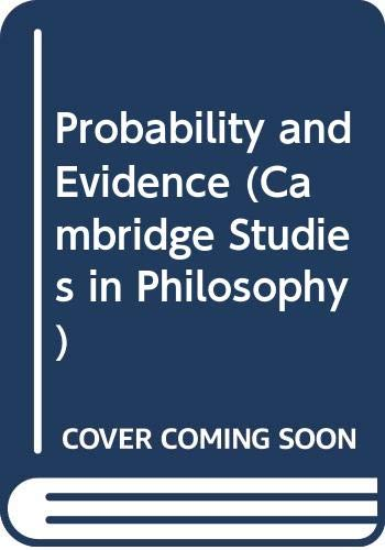 9780521237581: Probability and Evidence