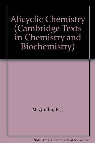 9780521239875: Alicyclic Chemistry (Cambridge Texts in Chemistry and Biochemistry)