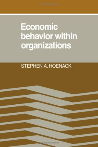9780521239936: Economic Behaviour within Organizations