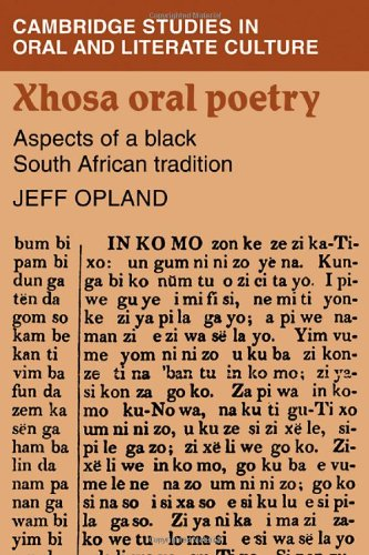 9780521241137: Xhosa Oral Poetry: Aspects of a Black South African Tadition