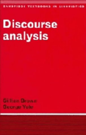 9780521241441: Discourse Analysis (Cambridge Textbooks in Linguistics)