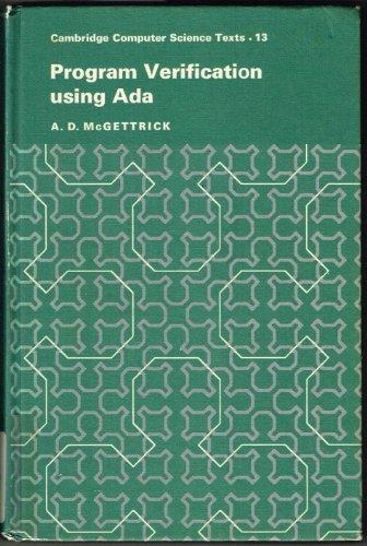 9780521242158: Program Verification Using Ada (Cambridge Computer Science Texts)