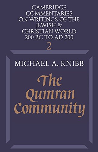 9780521242479: The Qumran Community (Cambridge Commentaries on Writings of the Jewish and Christian World)