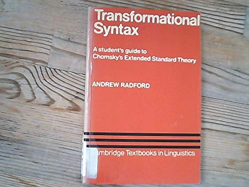 9780521242745: Transformational Syntax (Cambridge Textbooks in Linguistics)