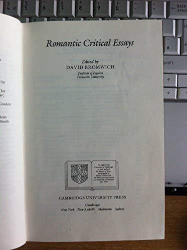 9780521244114: Romantic Critical Essays (Cambridge English Prose Texts)