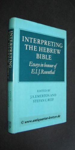 9780521244244: Interpreting the Hebrew Bible: Essays in Honour of E. I. J. Rosenthal (University of Cambridge Oriental Publications)