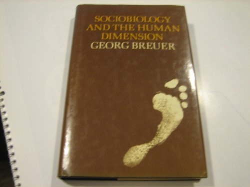 9780521245449: Sociobiology and the Human Dimension