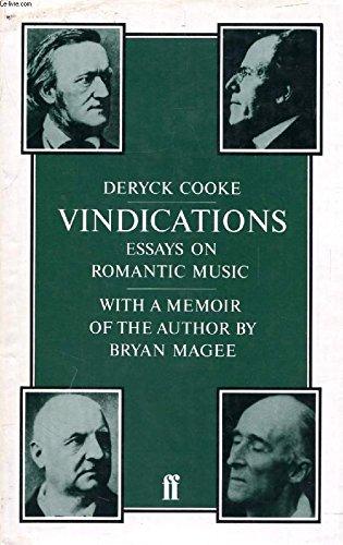 Vindications: Essays Romantic Music: Deryck Cooke
