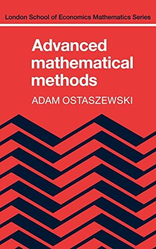 9780521247887: Advanced Mathematical Methods (London School of Economics Mathematics)