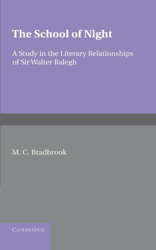 9780521248129: The School of Night: A Study in the Literary Relationships of Sir Walter Ralegh