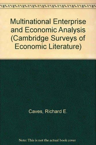 9780521249904: Multinational Enterprise and Economic Analysis (Cambridge Surveys of Economic Literature)