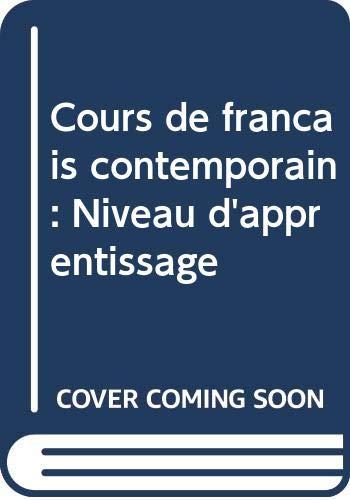 9780521250061: Cours de français contemporain: Niveau d'apprentissage