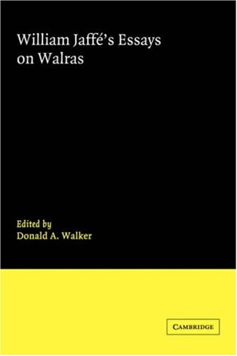 9780521251426: William Jaffe's Essays on Walras