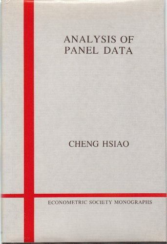 9780521251501: Analysis of Panel Data (Econometric Society Monographs)