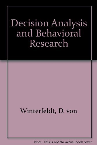 9780521253086: Decision Analysis and Behavioral Research