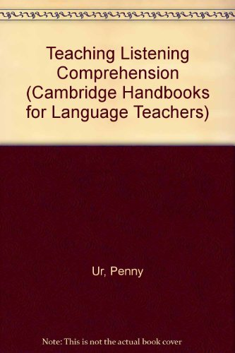 9780521255097: Teaching Listening Comprehension (Cambridge Handbooks for Language Teachers)