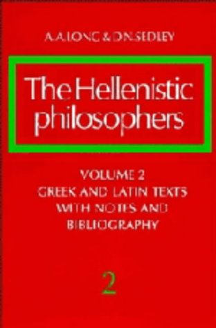 9780521255622: The Hellenistic Philosophers, Vol. 2: Greek and Latin Texts with Notes and Bibliography