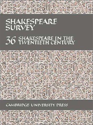 9780521256360: Shakespeare Survey: Volume 36, Shakespeare in the Twentieth Century: 036