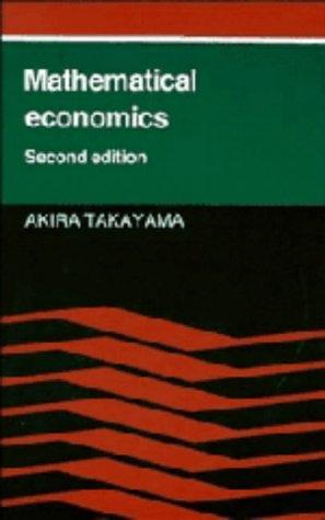 9780521257077: Mathematical Economics