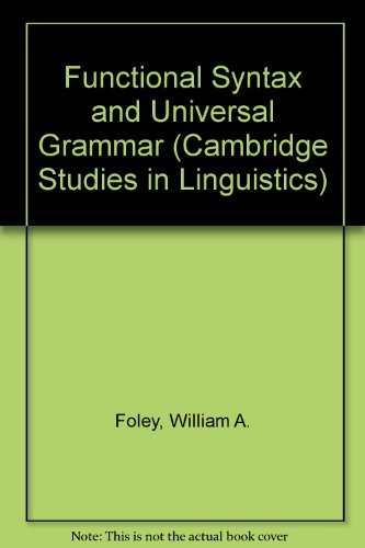 9780521259569: Functional Syntax and Universal Grammar (Cambridge Studies in Linguistics)