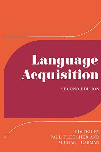 Language Acquisition: Studies in First Language Development
