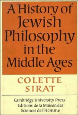 9780521260879: A History of Jewish Philosophy in the Middle Ages