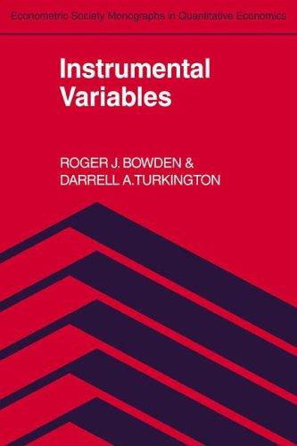 9780521262415: Instrumental Variables (Econometric Society Monographs)