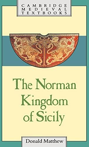 9780521262842: The Norman Kingdom of Sicily (Cambridge Medieval Textbooks)