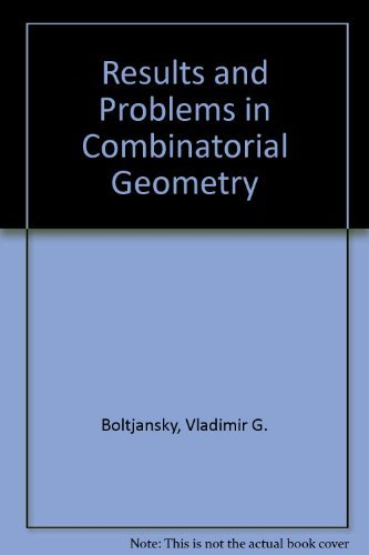 9780521262989: Results and Problems in Combinatorial Geometry
